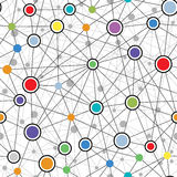 Seamless Colorful Network Pattern Stock Photo
