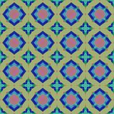 Seamless colorful oriental abstract carpet pattern with circular and star shapes Royalty Free Stock Images