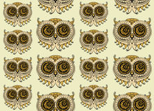 Seamless colorful owl pattern Stock Image