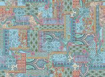 Seamless colorful paisley pattern vector illustration