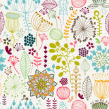 Seamless colorful pattern. Vector illustration. seamless botanical pattern Stock Photo