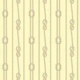 Seamless colorful pattern consisting of ropes and nautical knots. Separated light background vector illustration