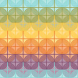 Seamless Colorful Pattern Created from Circle and Line Intersect Stock Photo