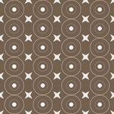 Seamless Colorful Pattern Created from Circles, Dots and Stars Royalty Free Stock Photos