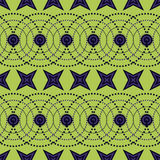 Seamless Colorful Pattern Created from Circles, Dots and Stars Stock Photography