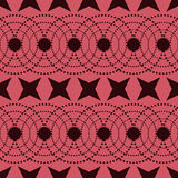 Seamless Colorful Pattern Created from Circles, Dots and Stars Royalty Free Stock Images