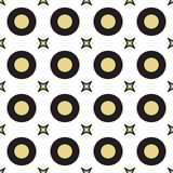 Seamless Colorful Pattern Created from Circles and stars Stock Photos