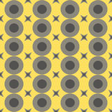 Seamless Colorful Pattern Created from Circles and stars Royalty Free Stock Image
