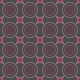 Seamless Colorful Pattern Created from Circles and stars Stock Photography