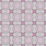 Seamless Colorful Pattern Created from Circles and stars Royalty Free Stock Photography