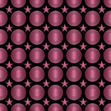 Seamless Colorful Pattern Created from Circles and stars Stock Images