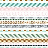 Seamless colorful pattern with geometric shapes. Triangles, cros. Ses, circles. line in Hand drawn style for fashion ,fabric and every prints on white background Vector Illustration