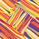 Seamless colorful pattern with grunge stripes Stock Image