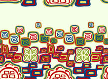 Seamless colorful pattern in Indian style with symbols. EPS10 vector illustration. Stock Photo