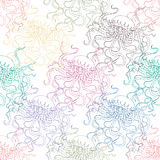 Seamless colorful pattern with jellyfishes Royalty Free Stock Photography
