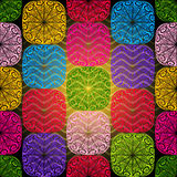 Seamless colorful pattern Stock Photos