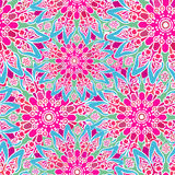 Seamless colorful pattern. Oriental style. Fabric or wallpaper. Royalty Free Stock Images
