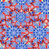 Seamless colorful pattern. Oriental style. Fabric or wallpaper texture. Ethnic Mandala forms. Islam, Arabic, Indian motifs. Abstract Tribal vector. Floral Royalty Free Stock Images