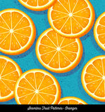 Seamless colorful pattern of sliced oranges. For backgrounds, textiles, menu design. Vector Illustration vector illustration