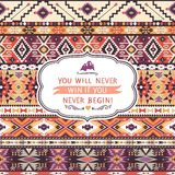 Seamless colorful pattern in tribal style Stock Photo