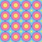 Seamless colorful pattern. Vector. Abstract vector illustration depicting colorful circles pattern Royalty Free Stock Image