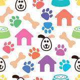 Seamless and colorful pet pattern, vector  Royalty Free Stock Images