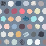Seamless colorful polka dot pattern. royalty free illustration