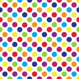 Seamless colorful polka dot pattern on white. Vector illustration. Eps 10 Stock Photo