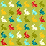 Seamless colorful rabbits pattern Royalty Free Stock Photography