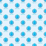 Seamless colorful drops pattern background vector water blue nature raindrop abstract illustration. Seamless colorful rain drops pattern background vector stock illustration