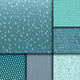 Seamless colorful rain drops pattern background vector water blue nature raindrop abstract illustration Stock Image