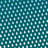 Seamless colorful rain drops pattern background vector water blue nature raindrop abstract illustration Stock Photography