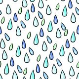 Seamless colorful rain drops pattern background on white. Seamless colorful rain drops pattern background vector illustration Royalty Free Stock Photo