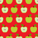 Seamless colorful retro apple pattern Stock Photography