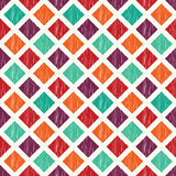 Seamless colorful rhombus tiles pattern Royalty Free Stock Photography