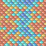 Seamless colorful river fish scales Royalty Free Stock Images