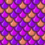 Seamless colorful river fish scales. Seamless colorful shiny river fish scales. Dragonscale. Brilliant background for design. Vector illustration eps 10 Stock Photography