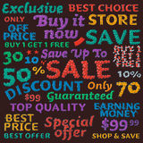 Seamless colorful sale discount pattern Royalty Free Stock Photography
