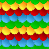 Seamless colorful scales pattern background Royalty Free Stock Images