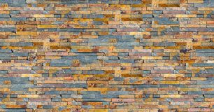 Seamless colorful slate wall texture Stock Image