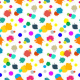 Seamless Colorful Splashes Pattern Royalty Free Stock Photo