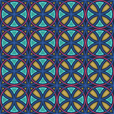 Seamless colorful stained glass pattern Royalty Free Stock Photos