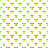 Seamless Colorful Stars Pattern Stock Images