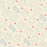 Seamless colorful teeth pattern. Vector Stock Photography