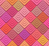 Seamless colorful texture with triangular scales. Royalty Free Stock Photos