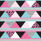 Seamless colorful triangle pattern vector illustration Stock Photos