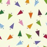 Seamless colorful umbrella pattern Royalty Free Stock Image