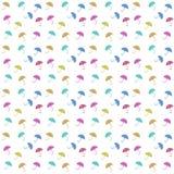 Seamless colorful umbrella pattern white background Stock Photo