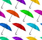 Seamless colorful umbrellas background. Vector illustration Stock Photography