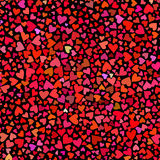 Seamless colorful vector hearts pattern. Texture for cover, paper, gift, fabric, textile. Ornament for Valentines Day Royalty Free Stock Photo